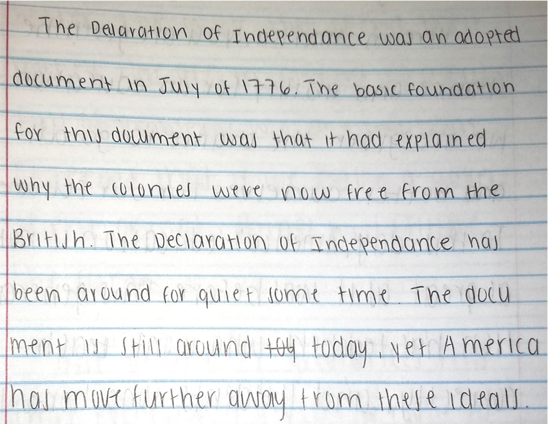 declaration of independence  background knowledge